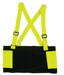 Hi-Viz Back Support with Attached Suspenders